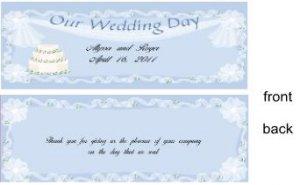 Our Wedding Day Bar