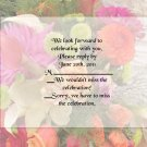 Tropical Flowers rsvp cards