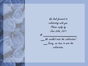 Blue Roses rsvp cards