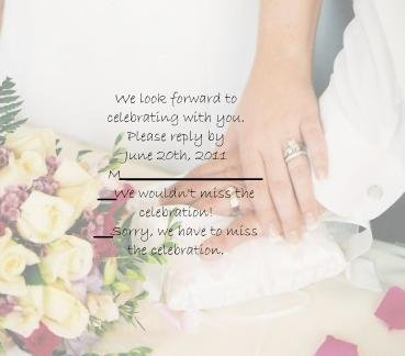 Hand in Hand rsvp cards
