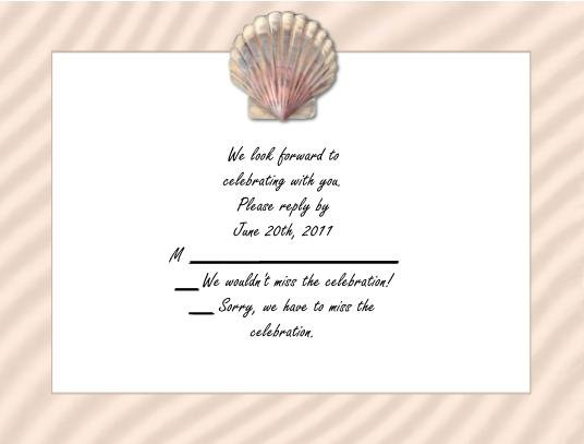 Shell rsvp cards