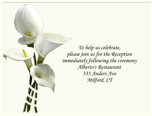 Calla Lilly 2 reception cards