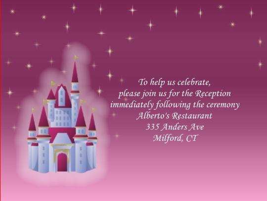 Fairytale 2 reception cards
