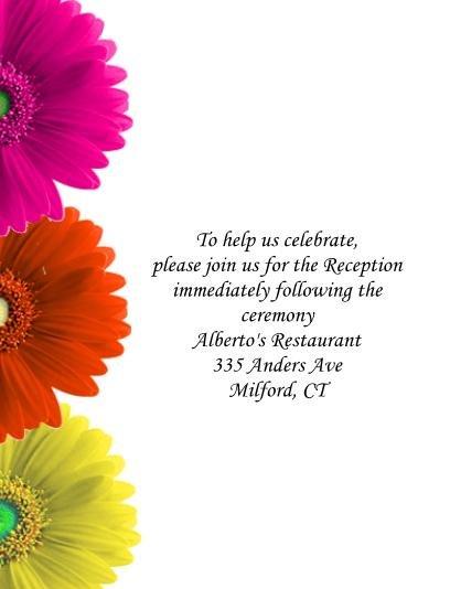 Gebrera Daisies reception card