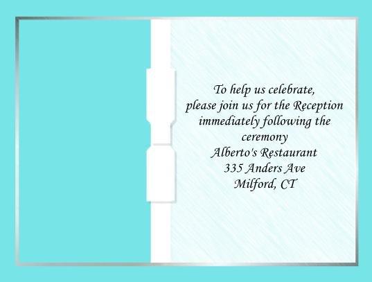 Aqua Blue reception cards
