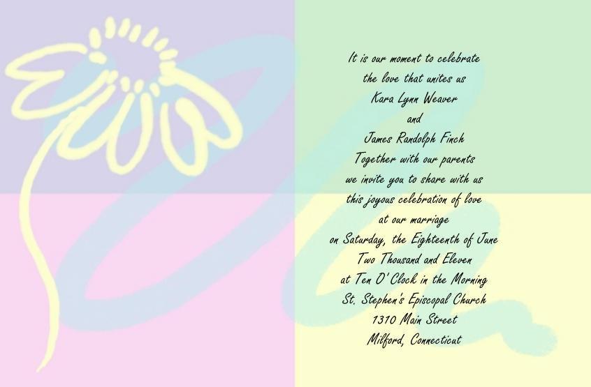 Pastels Wedding Invitations