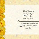 Yellow Roses rsvp cards