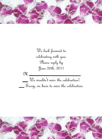 Rose Petals rsvp cards