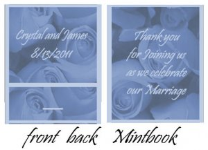 Blue Roses Mintbook / Mint Matchbook