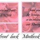 Pink Roses Mintbook / Mint Matchbook