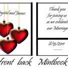 Hanging Hearts Mintbooks / Mint Matchbooks