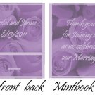 Purple Roses Mintbooks / Mint Matchbooks