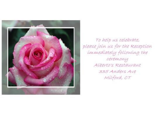 Dewy Rose reception cards
