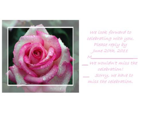 Dewy Rose rsvp cards