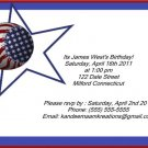 Baseball kids birthday invitations