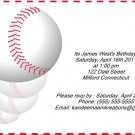 Baseball2 kids birthday invitations