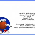 Basketball1 kids birthday invitation