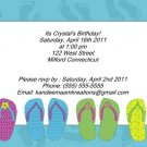 Flip Flop kids birthday invitations