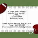 Football2 kids birthday invitations