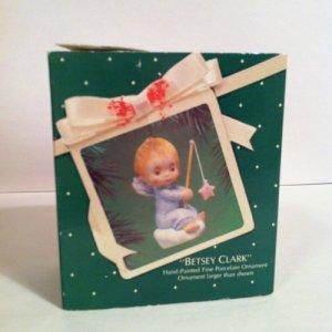 Vintage~BETSEY CLARK~1983~Hallmark Porcelain Ornament~Star