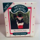 1987 Hallmark Wee Chimney Sweep Mouse Christmas Ornament