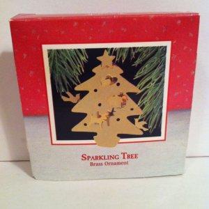 "Hallmark 1988   ""SPARKLING TREE""  Brass     �NIB�"