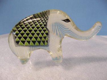 Abraham Palatnik Green ELEPHANT Lucite Acrylic Sculpture Figurine PAL 286