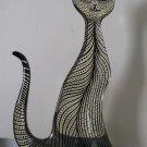Rare LARGE 16 inch A. Palatnik Lucite Acrylic Cat Feline Sculpture Figurine 1064