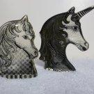 (2) Abraham Palatnik Lucite Acrylic UNICORN HORSE Sculptures Figurines 411467