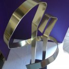 Vintage Signed Dated 1976 Early Dan Murphy Ribbon MCM Modern Metal Lucite Kinetic Sculpture 2161