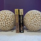 Vintage ? Modern Space Age Organic Decor Ball Bookends Lucite Acrylic 223132