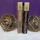 Modern Metal Knots Paper weight Paperweight Bookends Gold Copper Accent Decor 223334