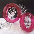 (2) Vintage NOS Fuschia Lucite Acrylic Bangle BANGLES Bracelets Estee Lauder