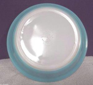 "RARE VTG Pyrex # 209 8 1/2 / 8.5"" Aqua Turquoise Robin's Egg Pie Plate Dish 2338"