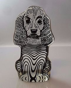 VTG Palatnik Lucite Acrylic Cocker Spaniel Dog Puppy K9 Sculpture Figurine 2539