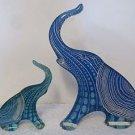 (2) VTG Abraham Palatnik Lucite Acrylic Elephant Sculptures Figurines 10352310