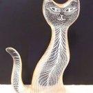 VTG Abraham Palatnik Lucite Acrylic White Feline Cat Sculpture Figurine 1090