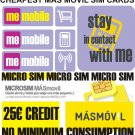 IPAD 3G MICRO SIM CARD FOR SPAIN/ MAS MOVIL