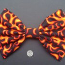"Large Orange Flame ""Anything Goes"" Fashionista Huge Massive Hair Bow w/snapclip"