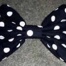 "Large ""Black & White Polka Dot"" Fashionista Huge Massive Hair Bow w/snapclip"