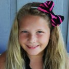 Mini Fashionista Hot Pink and Black Zebra Print Scene Hair Bow with headband