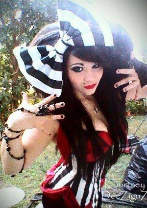 "Large ""Black & White Striped"" Satin Blend Fashion Huge Hair Bow  w/snap clip"