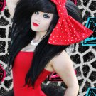 X-large Red and White Poka Dot Fashion Massive Huge Giant Hair Bow w/snapclip