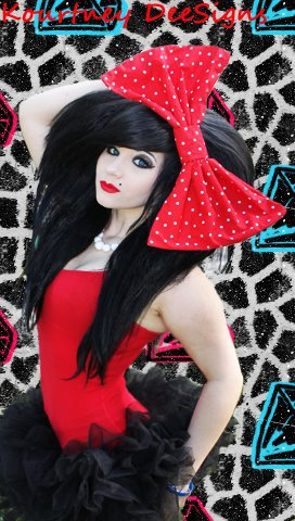 X-large Red and White Poka Dot Fashion Massive Huge Giant Hair Bow w/snapclip