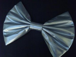 """Large """"Silver Pleather"""" Fashionista Huge Massive Hair Bow  w/snapclip"""