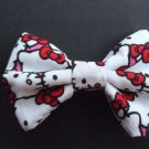 "Mini Valentine's Day ""Hello Kitty Faces"" Scene Fashion Hair Bow w/snapclip"
