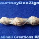 Nautical Seashell French Barrette #262 Handmade Hair, Shirt or Scarf Clip