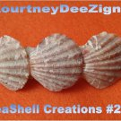 Nautical Seashell French Barrette #263 Handcrafted Hair, Shirt or Scarf Clip