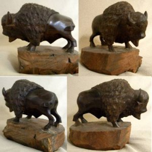 Rainbow Wall Wood Carving – Buffalo ***  Buy Wood Carvings