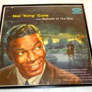 "Framed Record Album Cover - "" Nat  'King' Cole Sings Ballards of  the Day"" - Nat ""King"" Cole  0018"